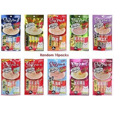 CIAO Churu Cat Lick Snacks Fillet 10 type Flavor Cat Food Japan추