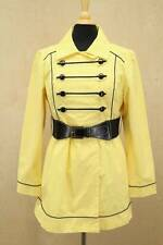 Ladies Jrs Candie's Belted Trench Jacket Long Yellow Vintage Military Style XL