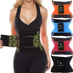 28c74f6b03 Image is loading Waist-Trainer-Belt-Cincher-Trimmer-Slimming-Body-Shaper-
