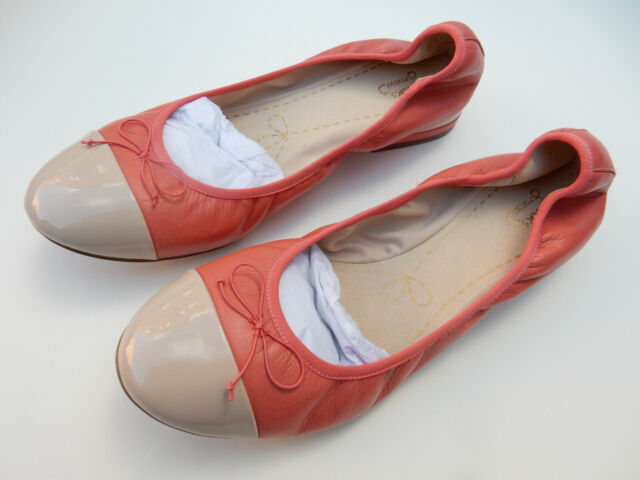 Ladies SALE Clarks Ditsy Dress Slip On Leather Ballerina Style Shoes