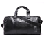 New-Mens-Black-Large-PU-Leather-Travel-Gym-Bag-Weekend-Overnight-Duffle-Handbag thumbnail 2