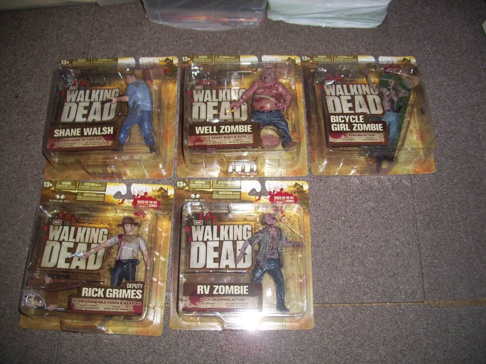 The walking dead series two figures still sealed