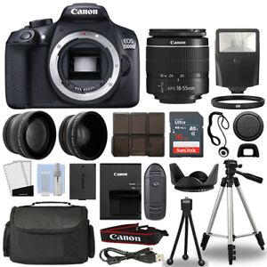 Canon 1300D / Rebel T6 DSLR Camera + 18-55mm 3 Lens Kit + 16GB Top Value Bundle 742880768488