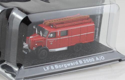 Borgward b2500 lf8 POMPIERS Atlas 1:72 voiture miniature
