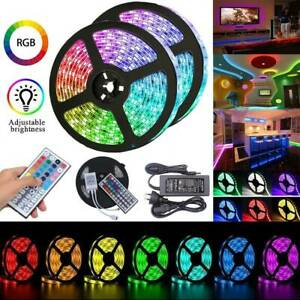 AU-Waterproof-SMD-5050-RGB-1M-30M-LED-Strip-Light-12V-44-Key-Controller-Power
