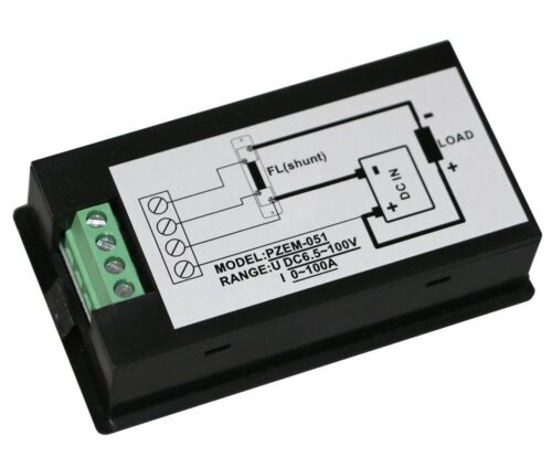DC 100A Meter Voltage Current Power Energy Combo Monitor for Car Battery Solar S