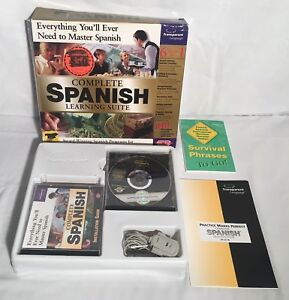 Details about COMPLETE SPANISH LEARNING SUITE Windows 95 98 Vintage PC  Software Big Box CIB