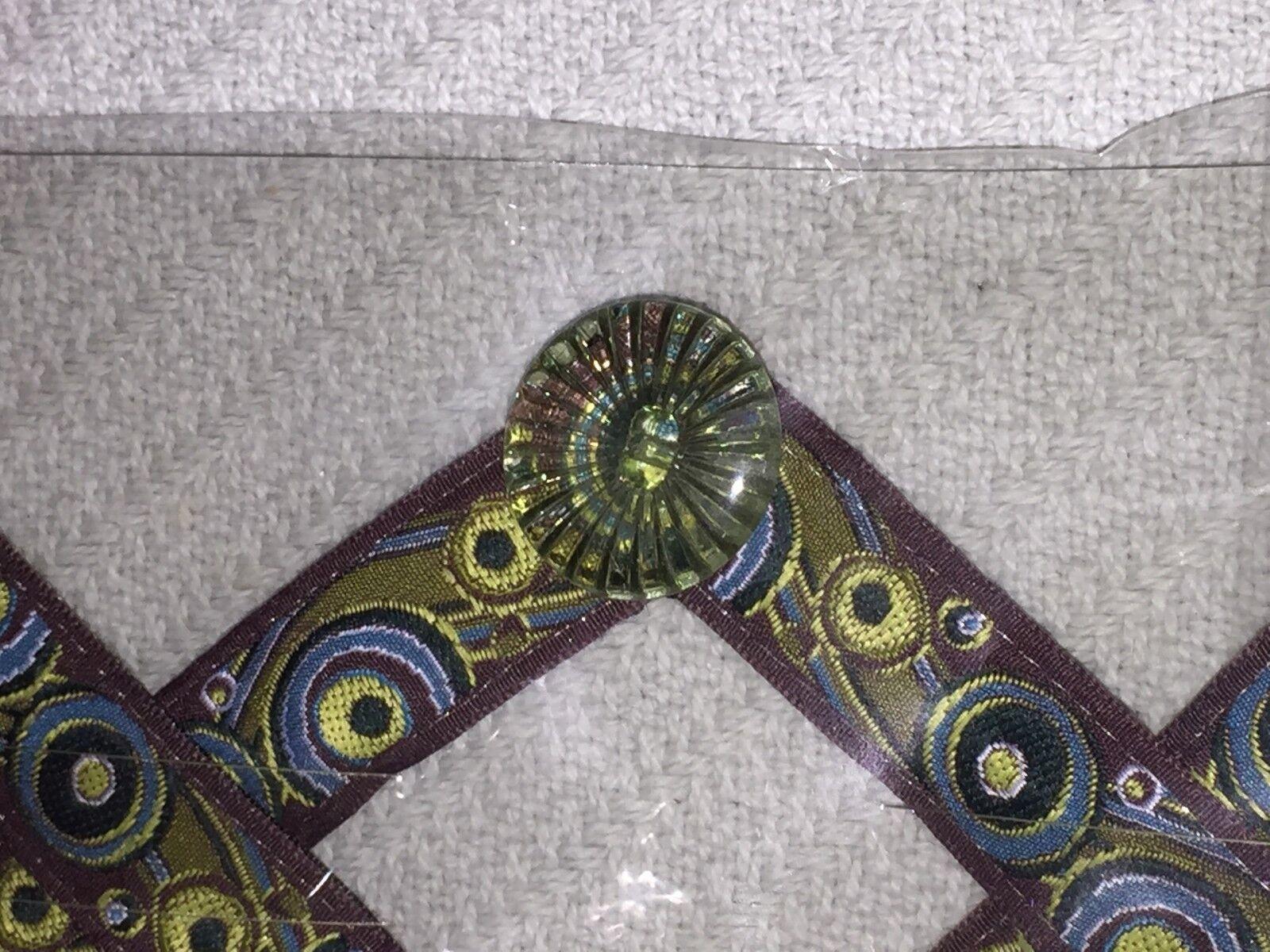 LuLu Designs, Inc. Switch Flops The Chloe Brown Multi-Color Sz S Design Straps
