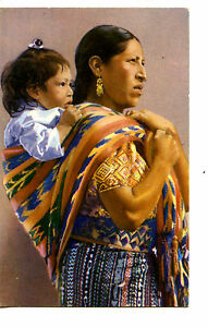 Image Is Loading Native Mexican Mother Carrying Baby Child In Woven