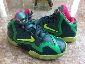 6e9a6077e1b9 Image is loading Nike-LeBron-11-Preschool-Multicolor-Basketball-Shoes-Size-