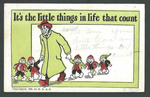 1906 PPC Vintage Humor Its The Little Things In Life That Count