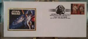 Star Wars 1st Jour Question Estampillé Enveloppes 30th Anniversaire De Soie Cachet Set 10