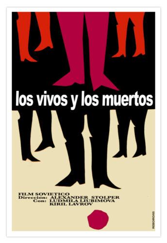 "Movie Poster for/""VIVOS y Muertos/""Good graphics.Dead and Alive.Home interior art"