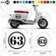 Stickers 2 Piece Set Scooter Motorbike Car 2127-0219 Number Vinyl Decals