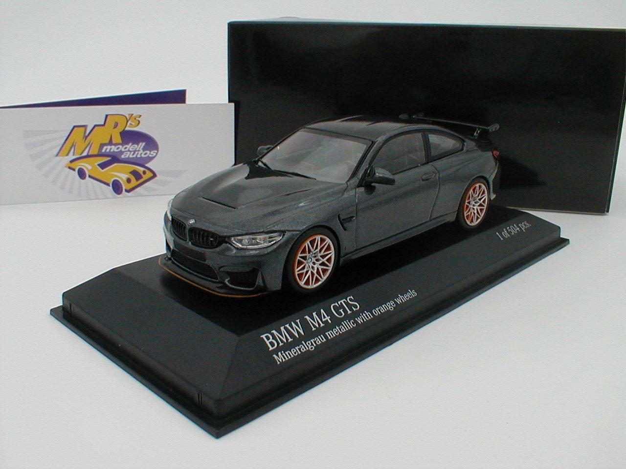 Minichamps 410025228 - BMW M4 GTS Bj. 2016   Mineralgrau-metallic   1 43 NEU