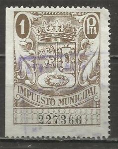 7480-SELLO-FISCAL-ESPANA-AYUNTAMIENTO-MADRID-LOCAL-IMPUESTO-MUNICIPAL-REVENUE