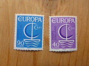 ITALY-1966-EUROPA-STAMPS-SET-2-MINT-STAMPS