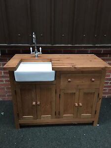 SMALL-FARMHOUSE-WHITE-SINGLE-CERAMIC-BELFAST-BUTLER-KITCHEN-SINK-amp-CHROME-WASTE