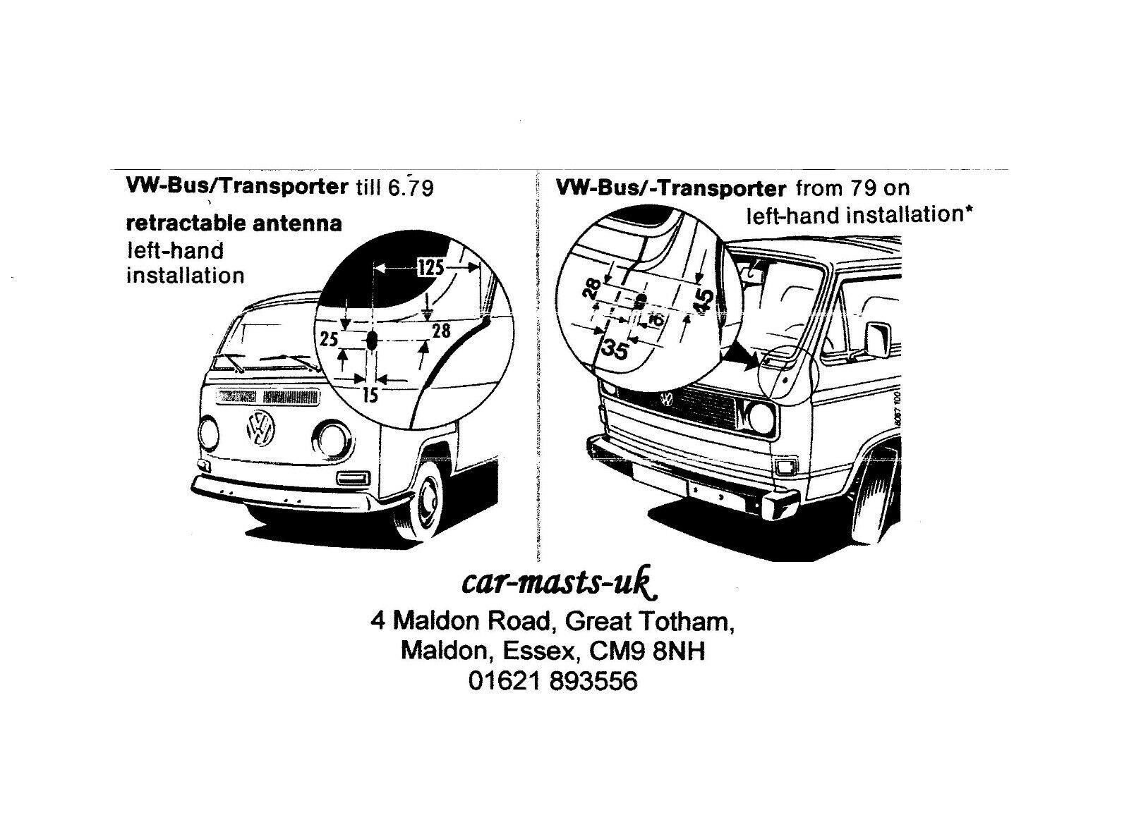 Bus 71-90 T25 T3 Rear Outer Classic VW Bay Window T2 Camper Van Wheel Bearing