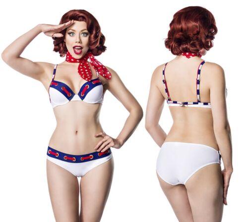 Matrosen-Bikini Marine-Look Belsira Formbügel Bademode Sommermode 50047