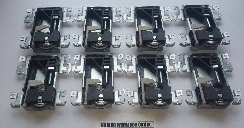 8 X Spacepro Stanley 17-4264Y-000 sliding wardrobe door part Wheels Runner Guide