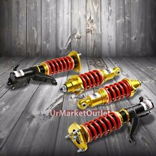 DNA Red/Gold Race Coilover Damper Shock Lowering Spring For 01-05 Civic/RSX EP3