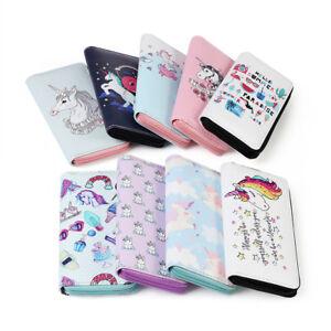 Women-Unicorn-Wallet-Clutch-Long-Leather-Purse-Card-Holder-Phone-Zipper-Handbags