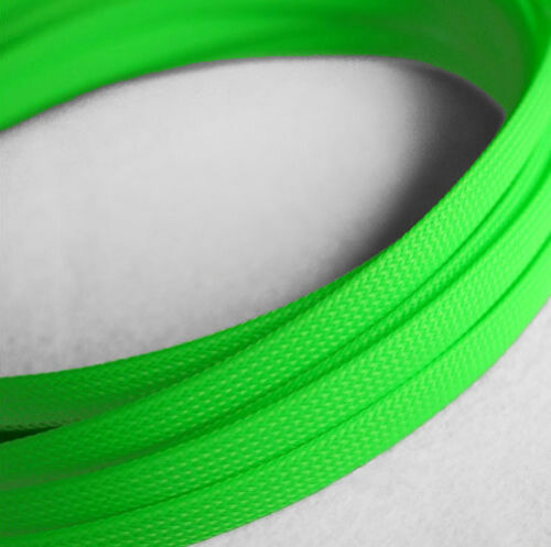 Braided Expandable Cable Loom Auto Harness Wire Sleeving Sheathing 12mm GREEN 5m