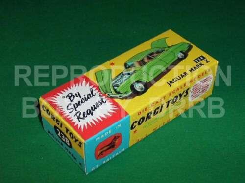 Corgi #238 Jaguar Mark X Reproduction Box by DRRB