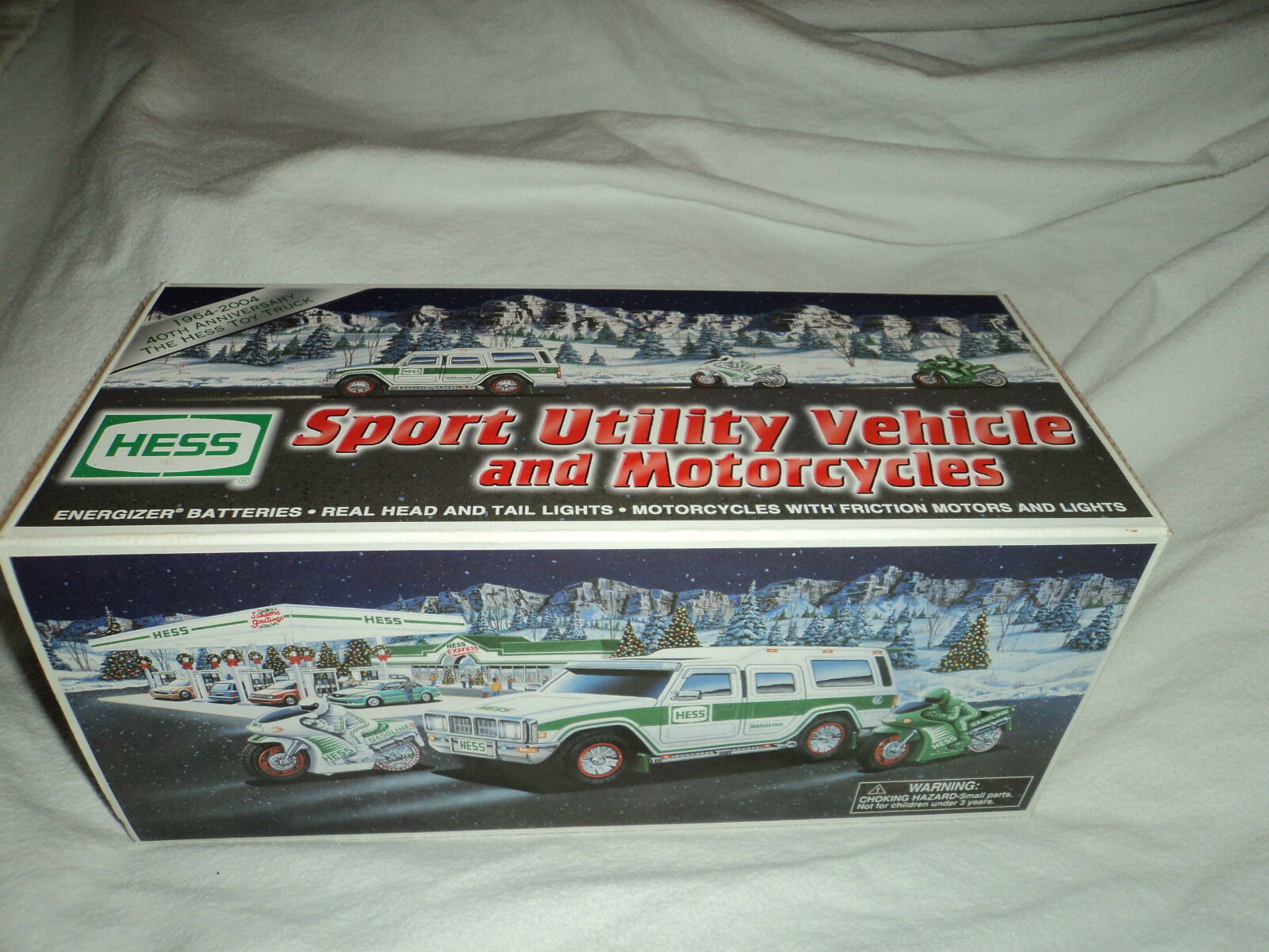 Hess Sport Utility Vehicle and Motorcycles 2004 Mint Condition NIB
