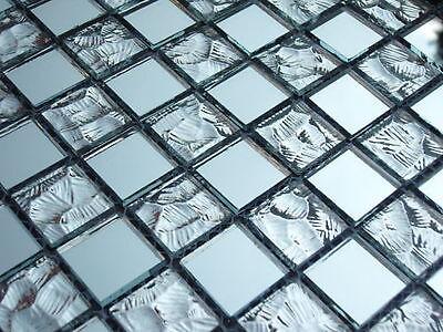 Mosaico in vetro tessere trasparente specchio sp1002 bagno ebay - Mosaico vetro bagno ...