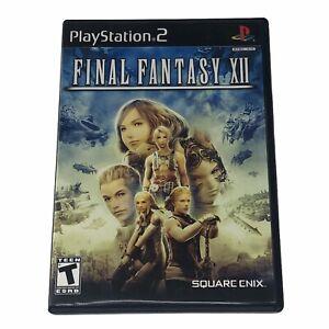 Final Fantasy XII (Sony PlayStation 2, 2006) Complete w/Manual CIB