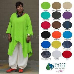 WATERSISTER-Cotton-Gauze-SUNNY-Long-Tails-Tunic-Top-OS-L-2X-3X-2019-COLORS