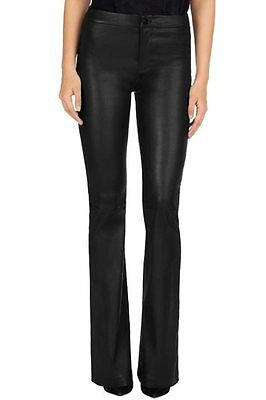 Genuine High Waisted Leather Flare Pants Bootcut Bell Bottoms Pant Trouser