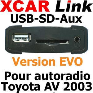 XCARLink-USB-SD-EVO-TOYOTA-Av-2003-Yaris-Auris-Corolla-Rav4-Avensis-Land-Cruiser