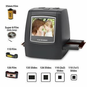 Film Scanner with 22MP Converts 126KPK/135/110/Super 8 Films, Slides, Negatives