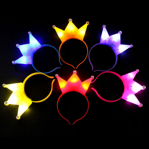 1x Scherzt reizende grelle Krone Light-Up LED-blinkende Stirnband-Partei V C7I8