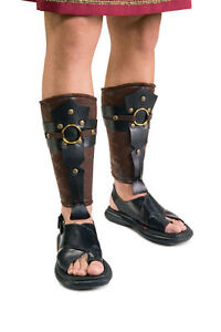 Roman-Soldier-Leg-Guards-Centurion-Costume-Caesar-Nativity-Legionnaire-Gladiator