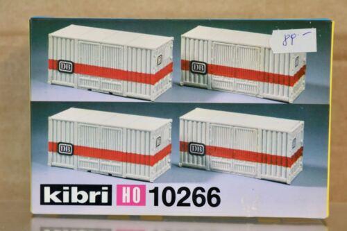 KIBRI 10266 HO SCALE DB 20ft CONTAINER WAGON LOAD MODEL RAILWAY KIT nq