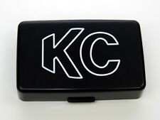 KC HILITES 5x7 INCH 57 SERIES BLK HARD PLASTIC LIGHT COVER WITH KC LOGO (SINGLE)