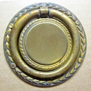 """Keeler KBC K-4276 Worn Brass 2-3/4"""" Round Wreath Drawer Drop Ring Pull 1 Antique"""