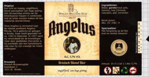 HOLLAND Micro,Brelsch Brouwers Gilde ANGELUS monk beer label C2360 019