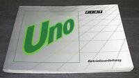 Betriebsanleitung Fiat Uno 45 45S 45SX 60S 60SX 70SX Turbo i.e. 1300 D DS 1990
