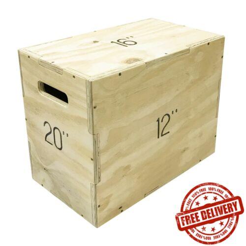 Medium Plyo Plyometric Jump Box 3-in-1 Training Crossfit Squat Gym