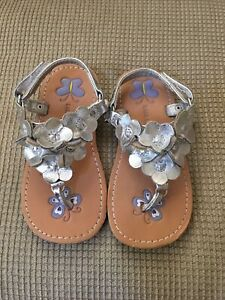 Toddler size 7 Laura Ashley Silver Sandals