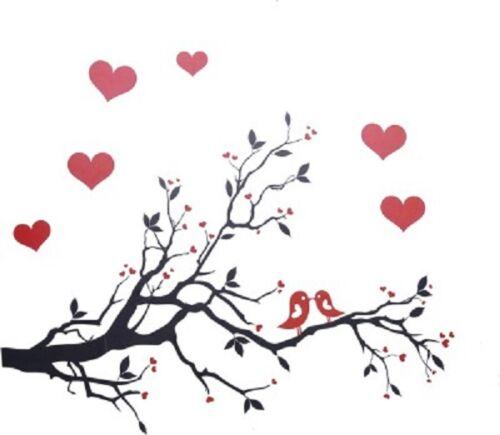 show original title Details about  /Tree Branch Love Birds Wall Decoration Large HUGE HOME DECORATION HEART JM7051