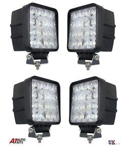 4-piezas-48w-16-12v-24v-Cuadrado-LED-Proyector-Luz-de-trabajo-Punto-Barra-Luz