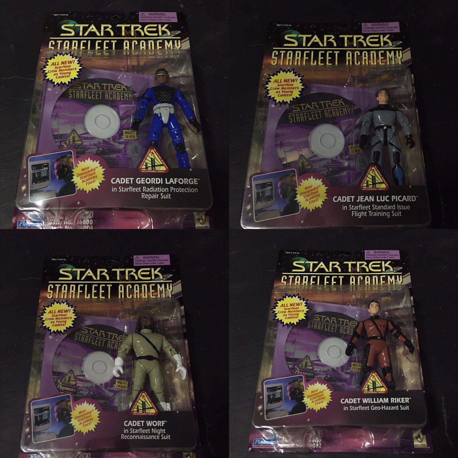 STAR TREK  Starfleet Academy Action Figures COMPLETE SET 4 of 4