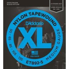 DAddario TWB135 Nylon Tape Wound Bass Guitar Single String.135