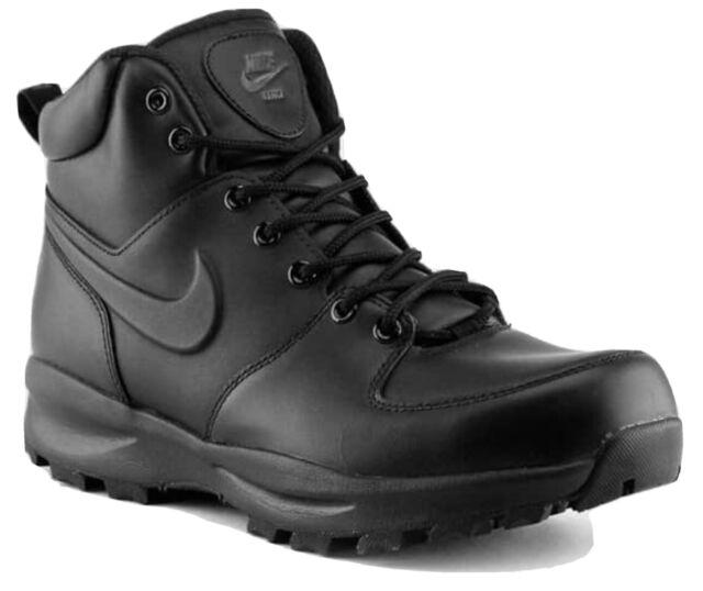 Nike Manoa Black Leather Work Sneaker Boots Men's 454350-003 Casual Winterized